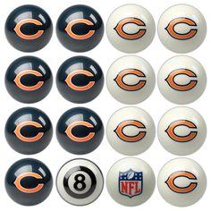 Chicago Bears NFL 8-Ball Billiard Set