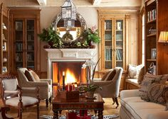 Comfortable, relaxed, and inviting home for the holidays - Designed by homeowner and designer Cindy Rinfret.