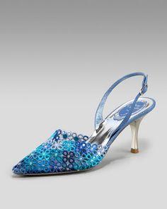 Rene Caovilla Lace Halter Slingback - Neiman Marcus