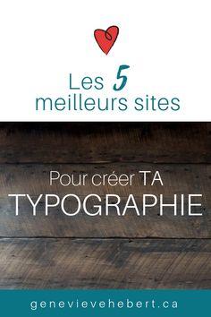 Découvre dans cet article, les 5 meilleurs site pour m'aider à trouver de l'inspiration pour trouver mes typographies. #Branding #graphisme #typographies Web Design, Graphic Design Tips, Branding, Design Graphique, Lettering Design, Police, Geek Stuff, Writing, Marketing
