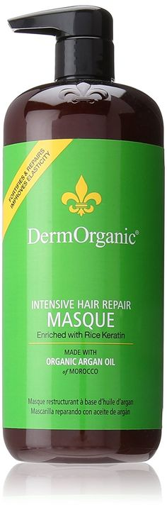 Dermorganic Intensive Hair Repair Masque with Argan Oil for Unisex, 33.8 Ounce *** This is an Amazon Affiliate link. To view further for this item, visit the image link.