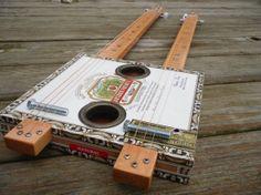 Arturo Fuente Chateau Double Neck Cigar Box Guitar by SnikleCBG