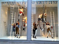 """ZARA,London,England,""""The ladder of succes is never crowded at the top"""", pinned by Ton van der Veer"""