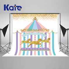 Find More Background Information about Kate 5X7FT Newborn Birthday Photography Backdrops Colorful House Golden Horse Photography Backdrops Birthday Party Background,High Quality Background from Art photography Background on Aliexpress.com