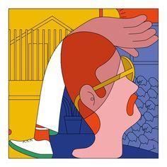 "Chilean illustrator Camilo Huinca's stylised portraits of ""real moments"""
