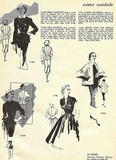 Timelessly elegant winter wardrobe ideas from 1952. #vintage #1950s #fashion #dresses