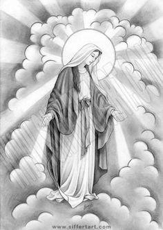 virgin mary angel tattoos - Google Search