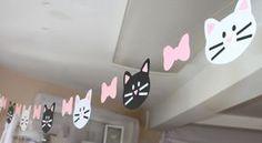 Gato guirnalda gatos gatito kitty la bandera