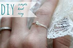 Simple DIY Knot Ring | Diary of a Mad Crafter