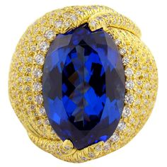 1stdibs - Tanzanite, Diamond & Yellow Gold Henry Dunay Ring explore items from 1,700  global dealers at 1stdibs.com