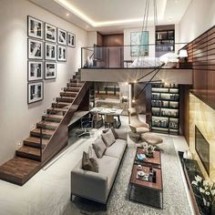 Small Homes That Use Lofts To Gain More Floor Space - Traumhaus Loft Design, Design Case, Modern House Design, Design Design, Loft Stil, Style At Home, Loft Style Homes, Lofts, Small Living Rooms