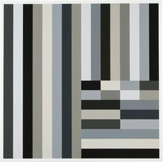 'Grey Blocks by Puerto Rican-born, CT-based painter Cary Smith Oil on linen, 31 x 31 in. Post Painterly Abstraction, Abstract Art, Hard Edge Painting, Black And White Quilts, Colour Field, Op Art, Contemporary Paintings, Textures Patterns, Les Oeuvres