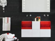 JUKE BOX LIGHT 洗面化粧台 by Regia デザイン: Bruna Rapisarda