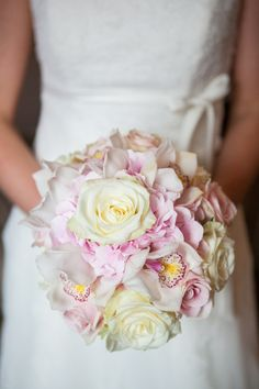 Garden Rose And Hydrangea Bouquet lilac with pink blush white roses green hydrangea bouquet set