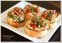 BEST bruschetta we've ever tasted {great way to use us your summer tomatoes!}