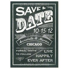 Vintage Sandwich Board Inspired Save the Dates