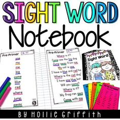 This sight word notebook is PERFECT for any primary classroom! As educators, we all know that our students must master their sight words to develop fluency. However, individualized sight word instruction can be so tricky and time consuming. #HollieGriffithTeaching #KidsActivities