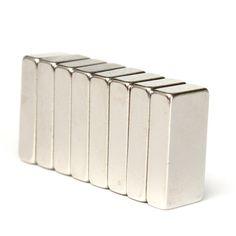 熱い販売8ピース20 × 10 × 5ミリメートルn52グレードブロックネオジム立方体希土類磁石