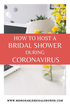 Did you know you can still have the bridal shower during this coronavirus crisis? Simply take the bridal shower online. Read on to find out how to plan and host the perfect virtual bridal shower or bachelorette party in 7 easy steps. Unique Bridal Shower, Bridal Shower Party, Bridal Shower Invitations, Wedding Showers, Bridal Shower Checklist, Bridal Shower Planning, Bridal Shower Games Prizes, Shower Hostess Gifts, Wedding Shower Decorations