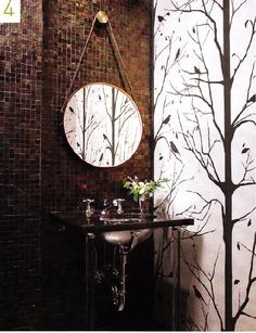The Bathroom Gallery, Elle Decor Bathroom Vanity Decor, Bathroom Ideas, Bathroom Wall, Earthy Bathroom, Serene Bathroom, Bathroom Sinks, Washroom, Bathroom Interior, Small Bathroom