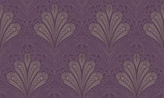 Alberti (952400) - Arthouse Wallpapers - An all over damask design reminiscent of peacock tails. Shown here in shades of purple and beige with glitter detail. Other colour ways available. Please request a sample for true colour match. Paste the wall.