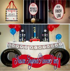 NASCAR inspired birthday party