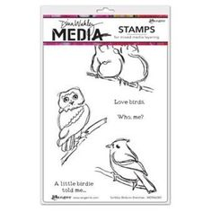 Dina Wakley Cling Rubber Stamp Set - Scribbly Birds on Branches