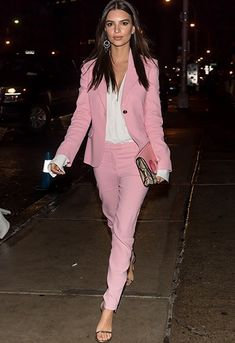 Dress in a pink suit, win life-definetely ;)