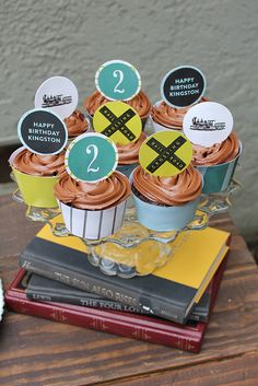 Vintage Modern Train Engine Birthday Party Ideas | Photo 3 of 10 | Catch My Party