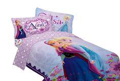 """Disney 64 by 86"""" Frozen Celebrate Love Comforter, Twin"""