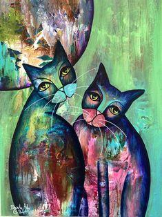 Shop for Original Paintings — Beverly Ash Gilbert Cat 2, Ash, Original Paintings, Batman, Superhero, The Originals, Artwork, Inspiration, Fictional Characters