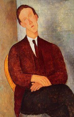 Amedeo Modigliani - Portrait of Morgan Russell. 1918. Oil on canvas.