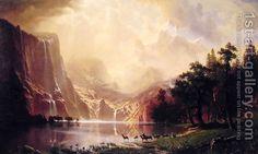 Among The Sierra Nevada Mountains  California by Albert Bierstadt