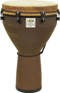 Remo Djembe Drum - Key Tuned (16 Inch, Earth Finish) by Remo. $259.99. REMO Djembe Drums are the most popular of all of their World Percussion instruments.Key-tuned REMO djembes are as widely used by touring professionals as they are in drum circles. The high slaps and deep bass tones from all REMO Djembes are from the Type 2 FIBERSKYN 3 drumhead and ACOUSTICON shell. This 14-inch model featuers 8 lugs and an Earth-pattern FabriFinish covering.DjembeRemo djembes are base...