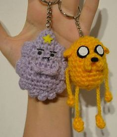 Adventure Time Lumpy Princess and Jake the Dog keychain