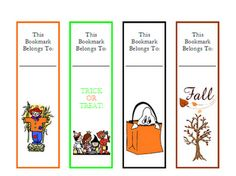 Fall / Halloween Bookmarks!