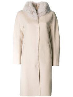 HERNO fur collar coat. #herno #cloth #