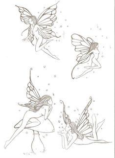 fairies e. by ~ellys-vr on deviantART tattoo fairies e. by ellys-vr on DeviantArt Fairy Tattoo Designs, Tribal Tattoo Designs, Tattoo Hada, Gothic Fairy Tattoo, Faerie Tattoo, Elfen Tattoo, Small Fairy Tattoos, Fairy Sketch, Fairy Drawings
