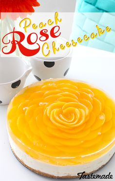 So pretty, you may not want to eat it. Just kidding. Impress your friends with this beautifully delicious Peach Rose Cheesecake