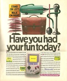 Nintendo Gameboy ad