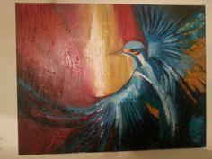 Blue bird- oil on canvas -available Bird Artwork, Blue Bird, Oil On Canvas, Artworks, Painting, Painted Canvas, Art Pieces, Paintings, Oil Paintings