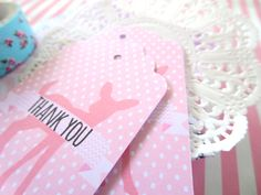 Baby shower thank you gift tags pink deer gift tags woodland animals