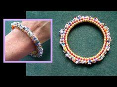 Beading4perfectionists : Cubic Right Angle Weave (CRAW) basic stitch bracelet beading tutorial - YouTube