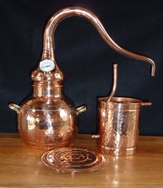 Handcrafted in Southern Europe and a traditional tool used for 100s of years to make hydrosols, also known as floral waters, and essential oils. Rosewater and witch hazel are the two floral waters most people are familiar with. Fresh flowers from your garden (or farmers market) can be used or dried botanicals including spices. These floral waters and essential oils can be used in misters, lotions, creams, aftershaves and soaps.  Tradition and beauty arent the only reasons for making a still…