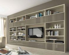 Colombini Vitalyty TV Unit with Shelving and Cabinets. Very large (>4m), but interesting take on integrating TV and shelving