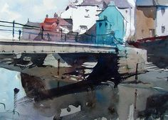 Staithes in North Yorkshire by Tim Wilmot (watercolor)