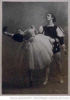 Giselle : [Vaslav Nijinsky et Tamara Karsavina (acte II)] / [photographie de Bert]