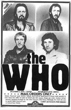 Limited The Who Live Concert Poster Print 1979 Rare