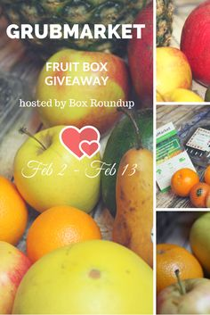 Enter this giveaway to win a fruit box - hosted by Box Roundup
