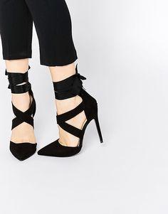 Lost Ink Catch Black Soft Tie Wrap Shoe